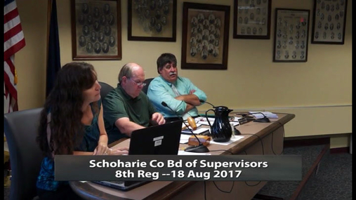 Schoharie Co Bd of Supervisors 8th Reg -- 18 Aug 2017