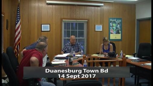 Duanesburg Town Bd -- 14 Sept 2017