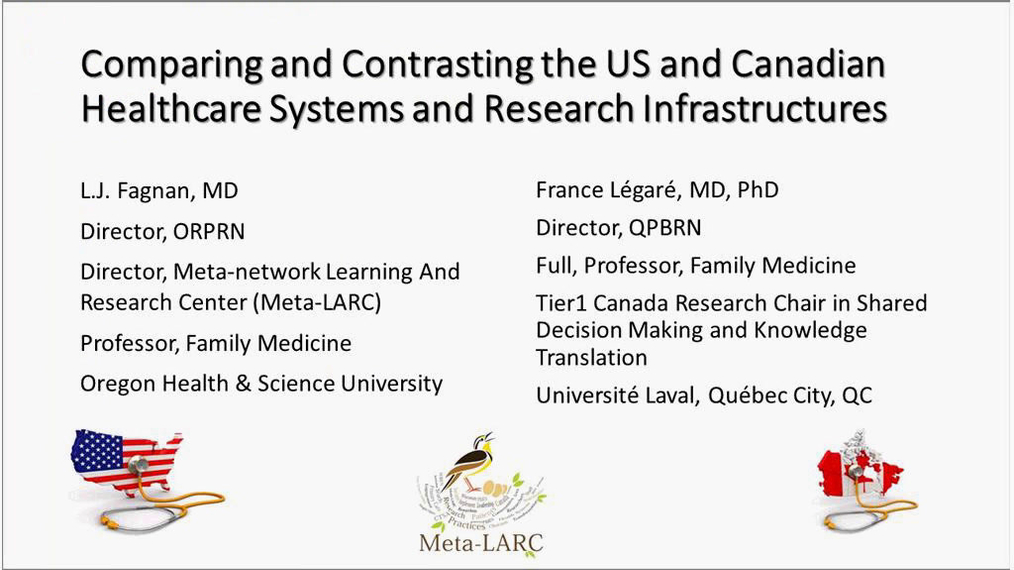 Session 10: Comparing and contrasting U.S. and Canadian healthcare systems and research infrastructures