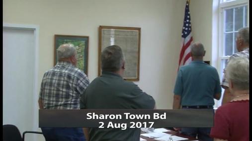 Sharon Town Bd -- 2 Aug 2017
