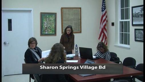 Sharon Springs Village Bd -- 16 Nov 2017