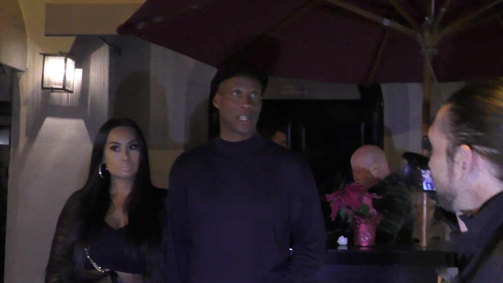 Byron Scott leaves dinner at Craigs in West Hollywood.mp4