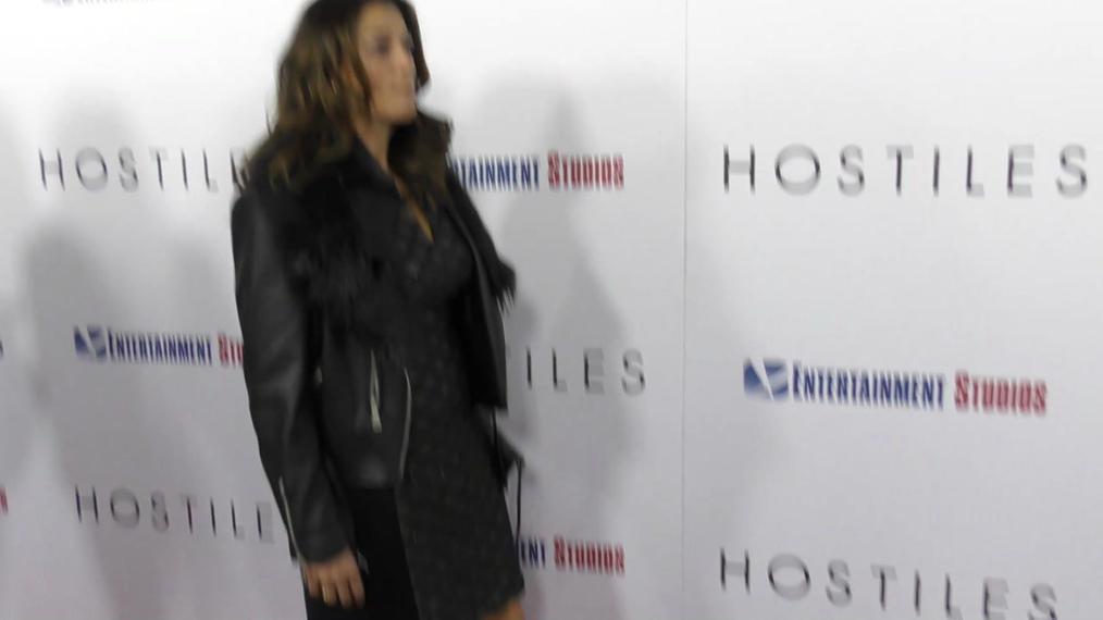 Carmen Diaz at the Hostiles Premiere at Samuel Goldwyn Theater in Beverly Hills.mp4