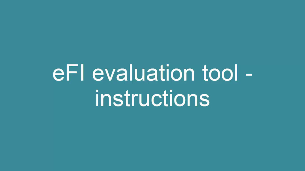 eFI evaluation tool