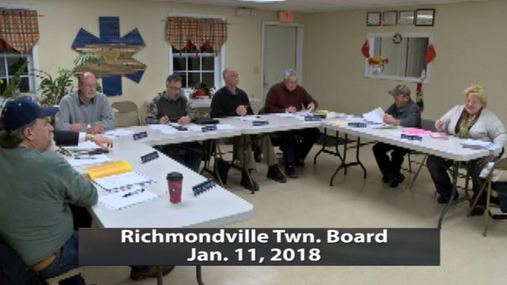 Richmondville Twn. Board -- Jan. 11,2018