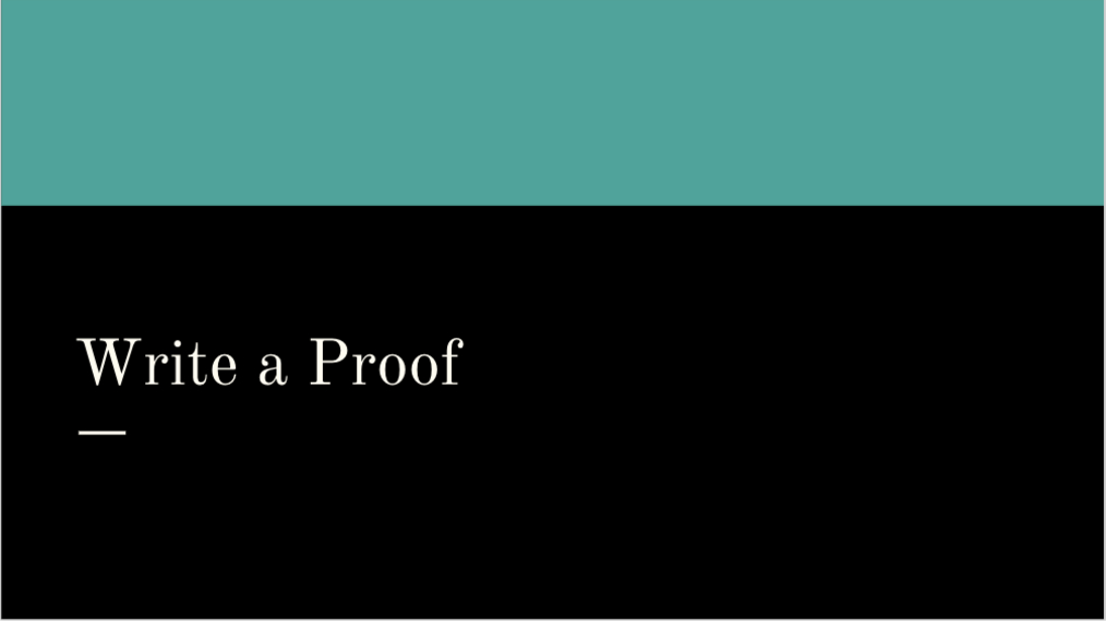 Write a Proof.mp4