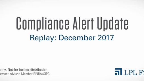 Compliance Replay: December 2017