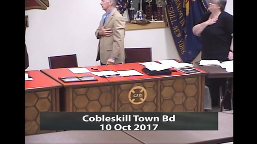 Cobleskill Town Bd -- 10 Oct 2017
