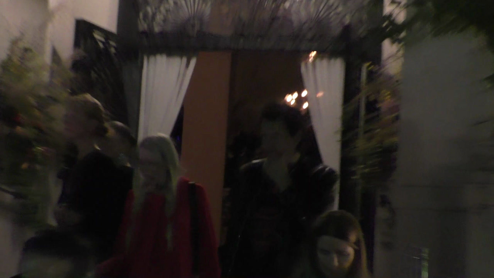 John Taylor from Duran Duran and wife Gela Nash outside the H&M x ERDEM Runway Show & Party at The Ebell Club in Los Angeles.mp4
