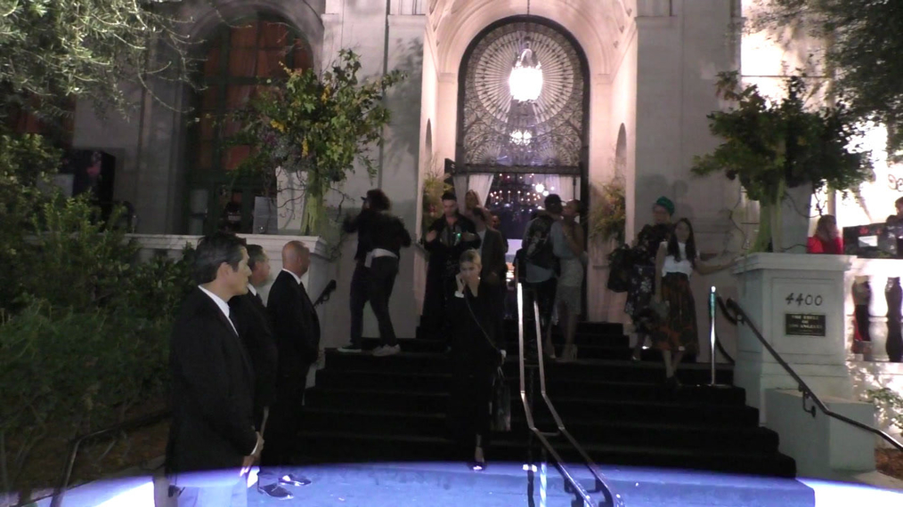 Tokio Hotel outside the H&M x ERDEM Runway Show & Party at The Ebell Club in Los Angeles.mp4