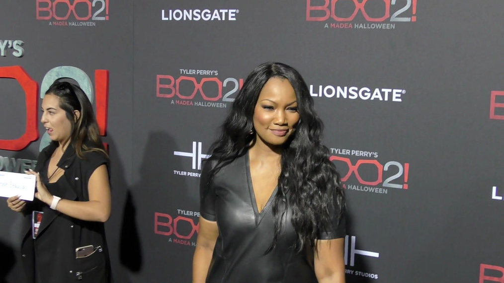 Garcelle Beauvais at the Tyler Perry's Boo 2! A Madea Halloween Premiere at Regal LA Live Theatre in Los Angeles.mp4