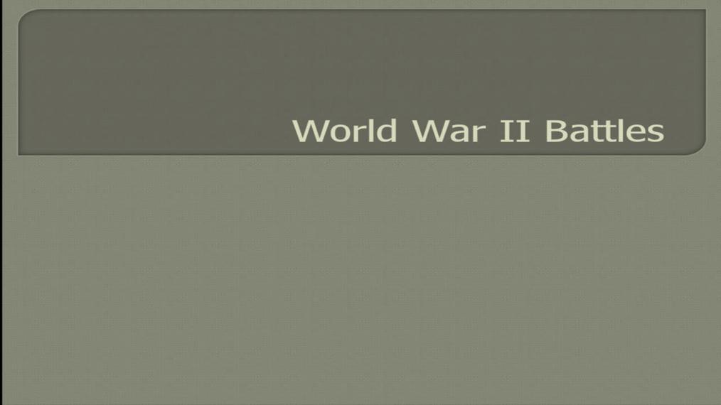 World War II Battles