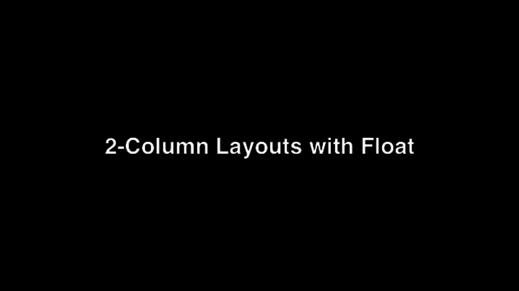 2 Column Layout using Float Property.mp4