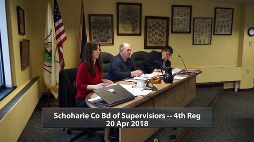 Schoharie Co Bd of Supervisors -- 4th Reg -- 20 Apr 2018