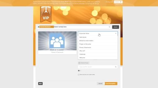 ViP Online - How To Send an E-card