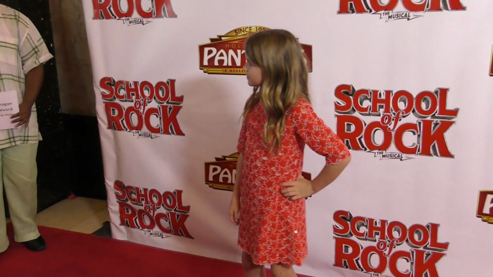 Reagan Revord attends the Los Angeles Premiere Of School Of Rock The Musical at Pantages Theatre in Hollywood.mp4