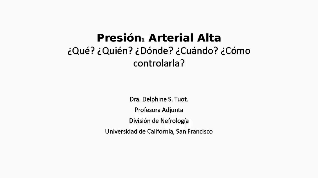 Spanish Hypertension Webcast audio recording