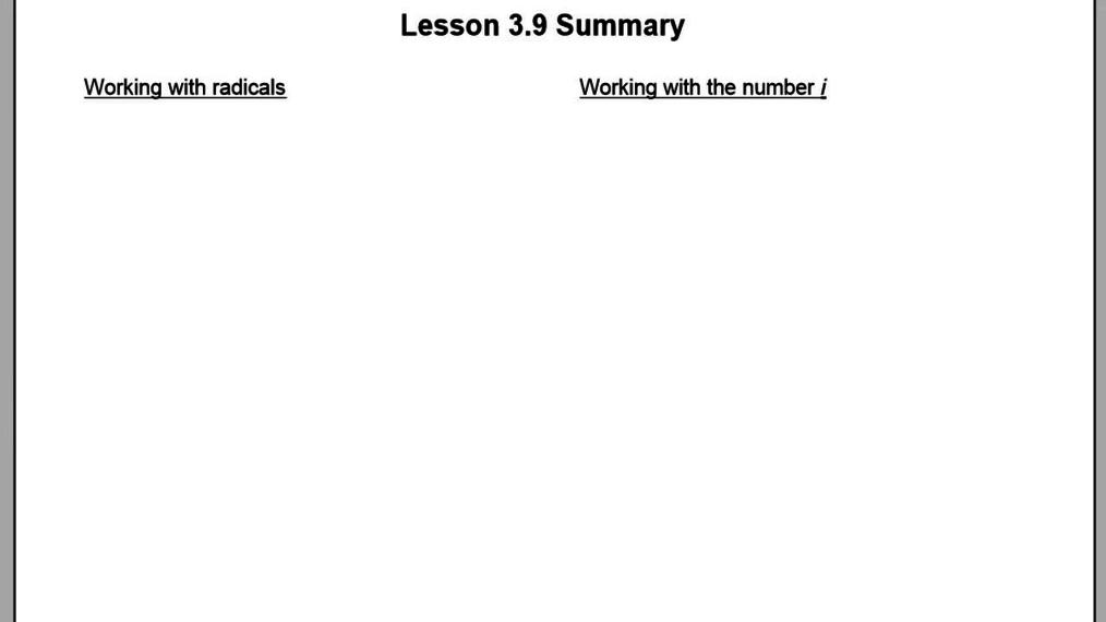 Lesson 3.9 Summary.mp4