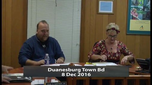 Duanesburg Town Bd -- 8 Dec 2016