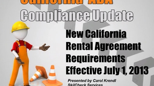 EST - California ADA Compliance