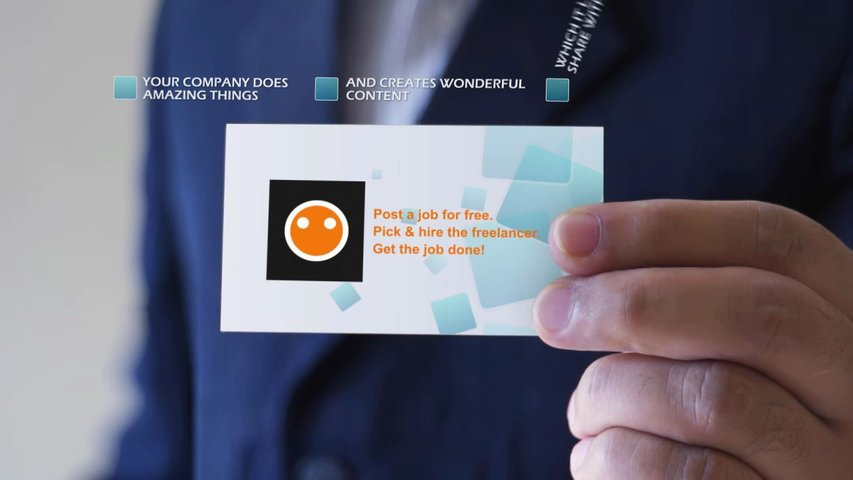 Make a business card video to promote your business, service or product