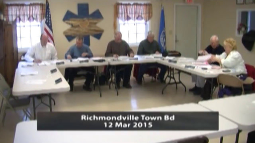 Richmondville Town Bd 12 Mar 2015 part 1