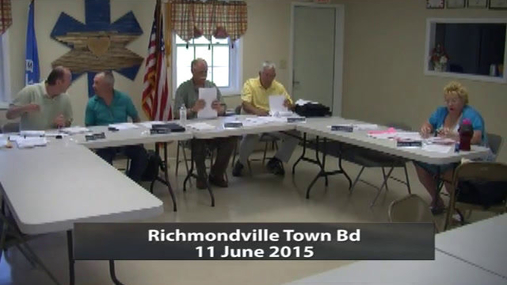 Richmondville Town Bd 11 June 2015