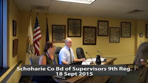 Schoharie Co Bd of Supervisors 9th Reg. 18 Sept 2015  Pt. 1