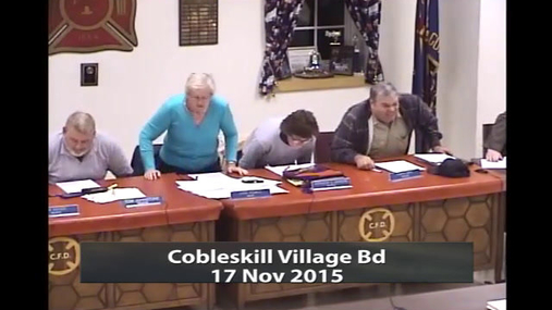Cobleskill Village Bd 17 Nov 2015