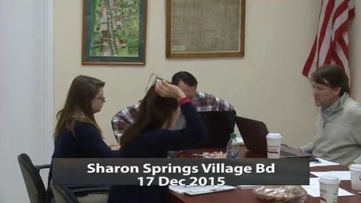 Sharon Springs Village Bd 17 Dec 2015 pt1