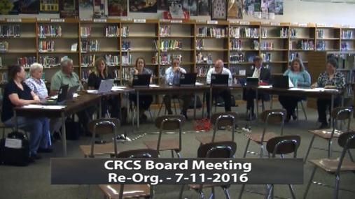 CRCS Board - Re-Org. --7-11-2016