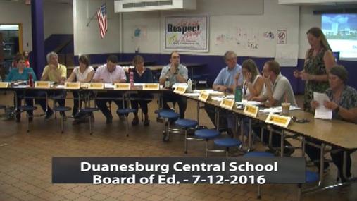Duanesburg BOE -- 7-12-2016