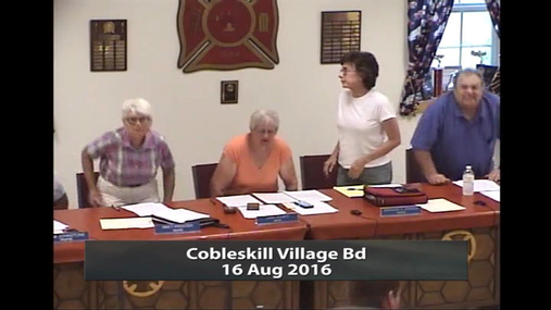Cobleskill Village Bd -- 16 Aug 2016