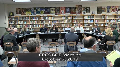 CRCS BOE -- Oct. 7, 2019