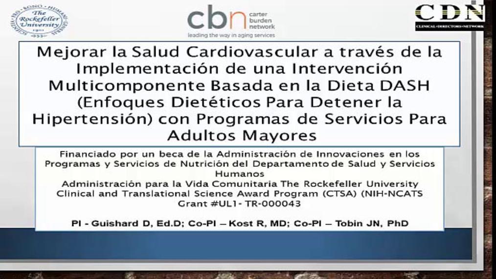 Versión en Español: Mejora la Salud Cardiovascular a través de la Implementación de una Intervención Multicomponente Basada en la Dieta DASH