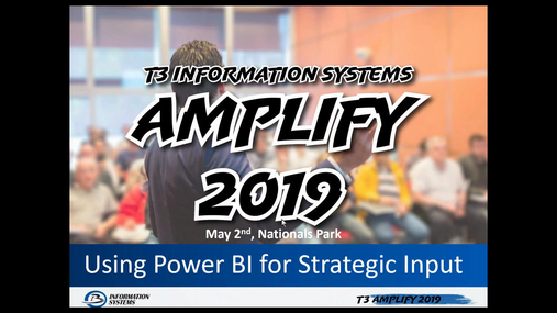 Using Power BI for Strategic Input