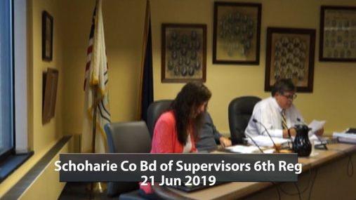 Schoharie Co Bd of Supervisors 6th Reg -- 21 Jun 2019