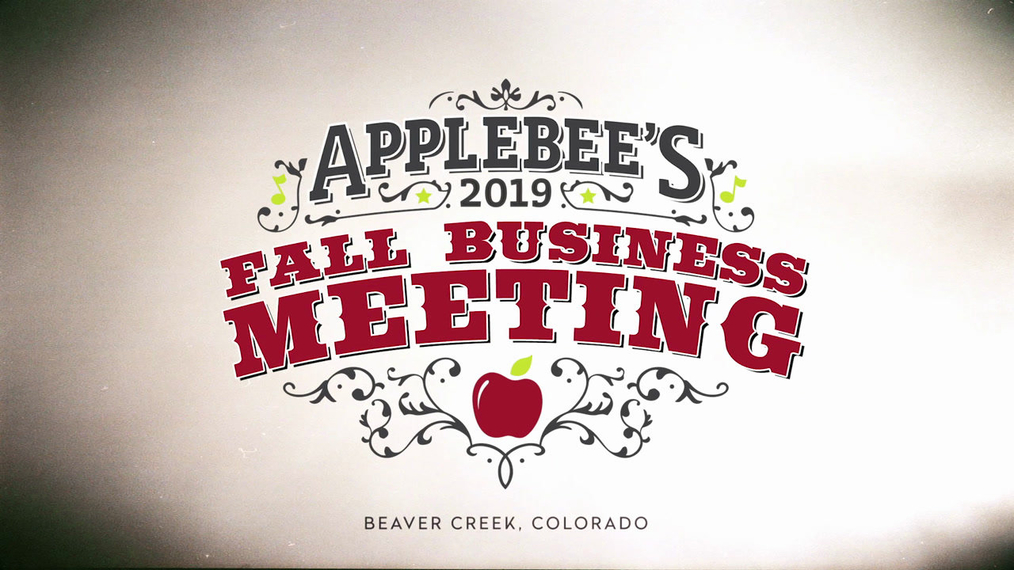 Thanks For Coming! Applebee's 2019 Fall Business Meeting