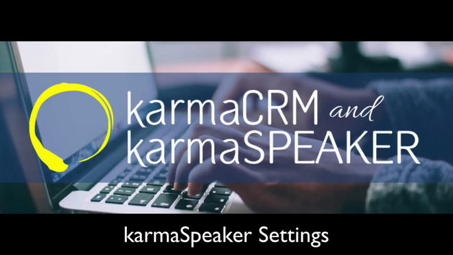"Overview of the ""Settings"" Section in karmaSpeaker"