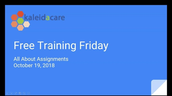 Free Training Friday 2018-10: All About Assignments