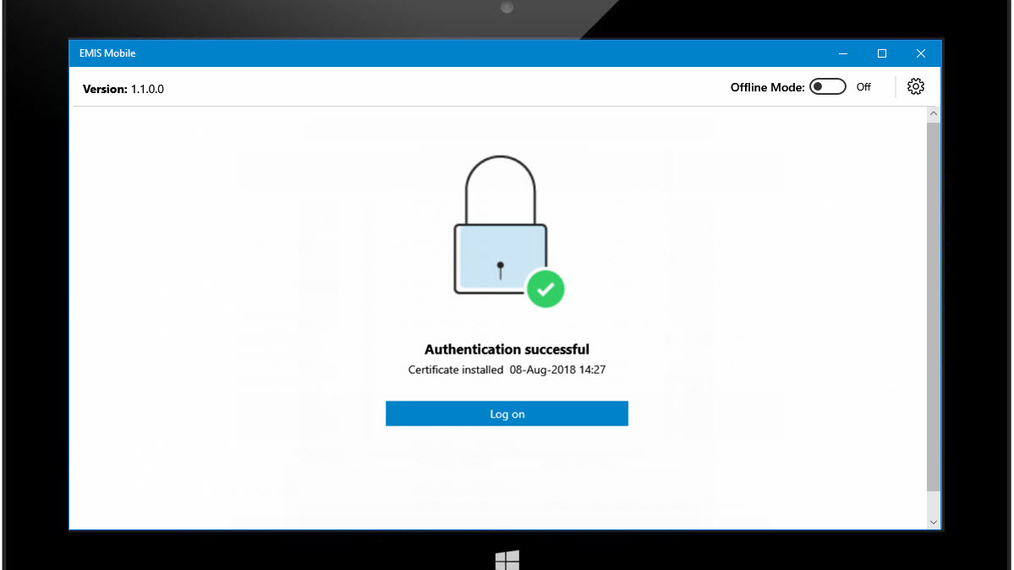 Authenticate a Windows device for EMIS Mobile.mp4