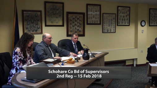 Schoharie Co Bd of Supervisors -- 2nd Reg -- 15Feb 2019