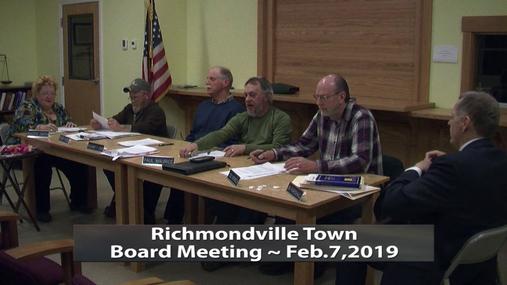 Richmondville Twn Board  -- Feb.7,2019