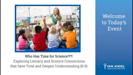 Exploring Literacy & Science Connections (K-5): September 19, 2018