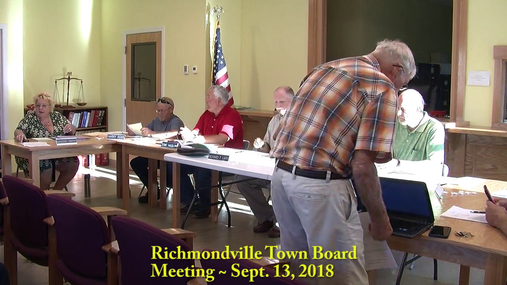 Richmondville Town Board -- Sept. 13, 2018