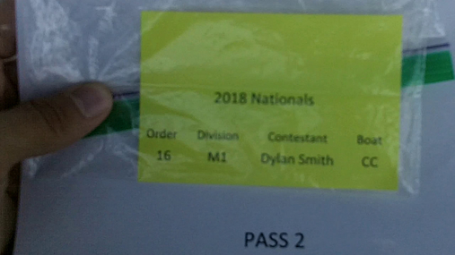 Dylan Smith M1 Round 1 Pass 2
