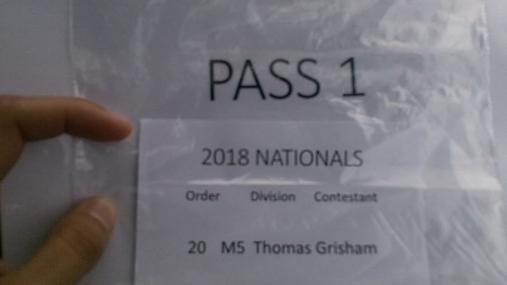 Thomas Grisham M5 Round 1 Pass 1