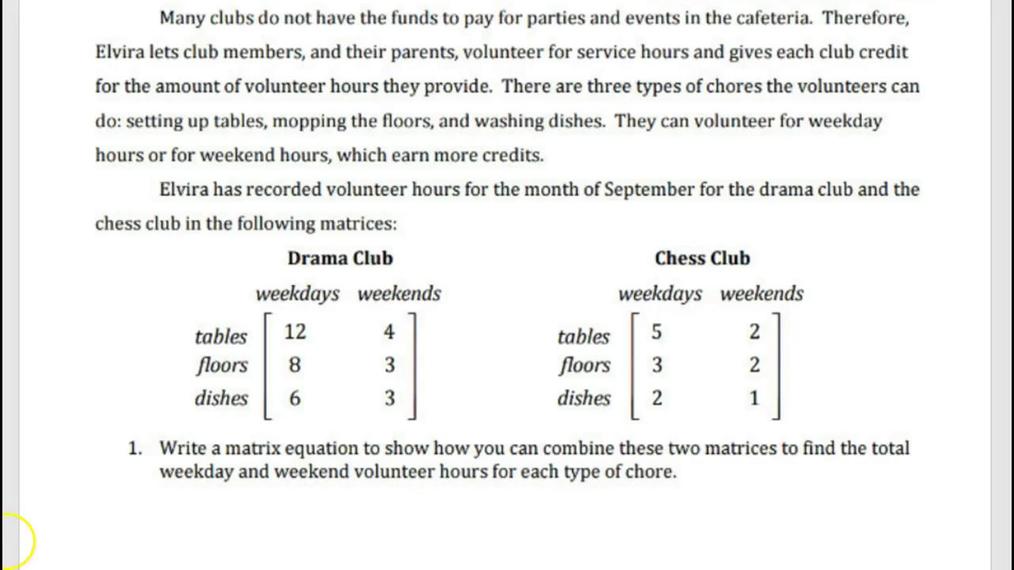 Precalculus Matrix Arithmetic Guided Notes mp4