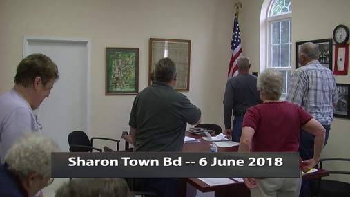 Sharon Town Bd -- 6 June 2018