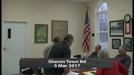 Sharon Town Bd_5 Mar 2017